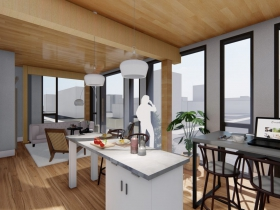 Louis Bass Apartments Rendering