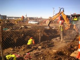 Construction at Reed Street Yards.