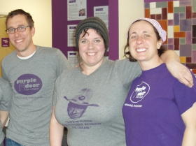 Steve (left) and Lauren Schultz (far right) have a great working relationship with their staff members.