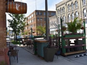 Parklet at Shaker's Cigar Bar
