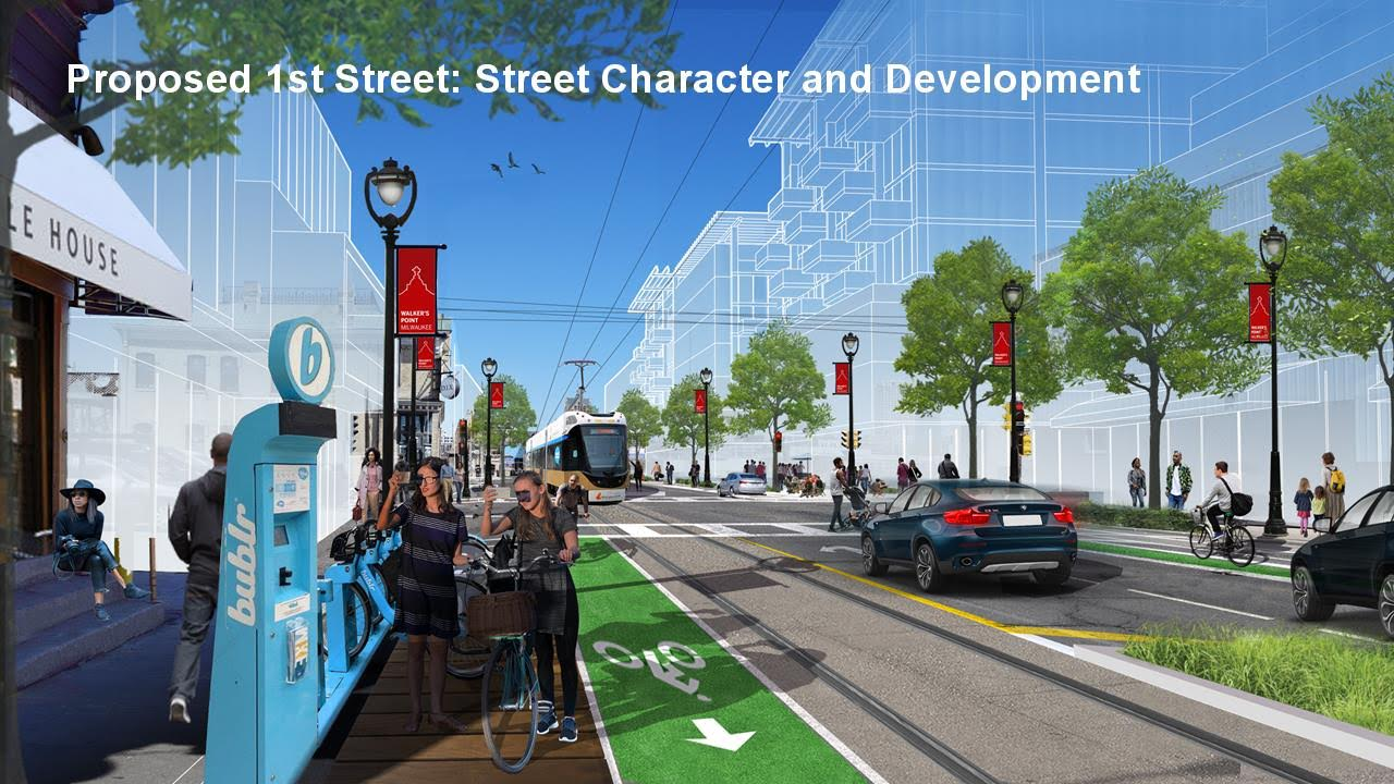 S. 1st St. Streetcar Rendering