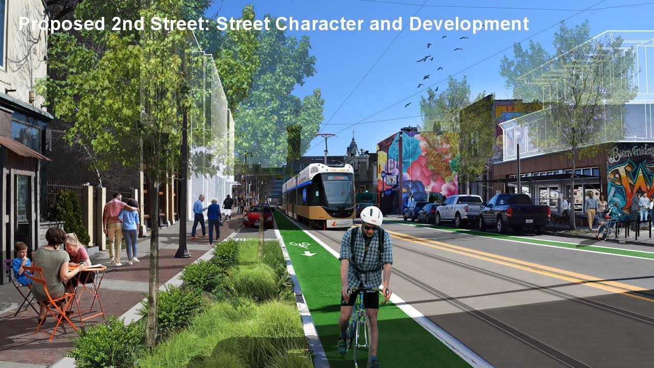 S. 2nd St. Streetcar Rendering
