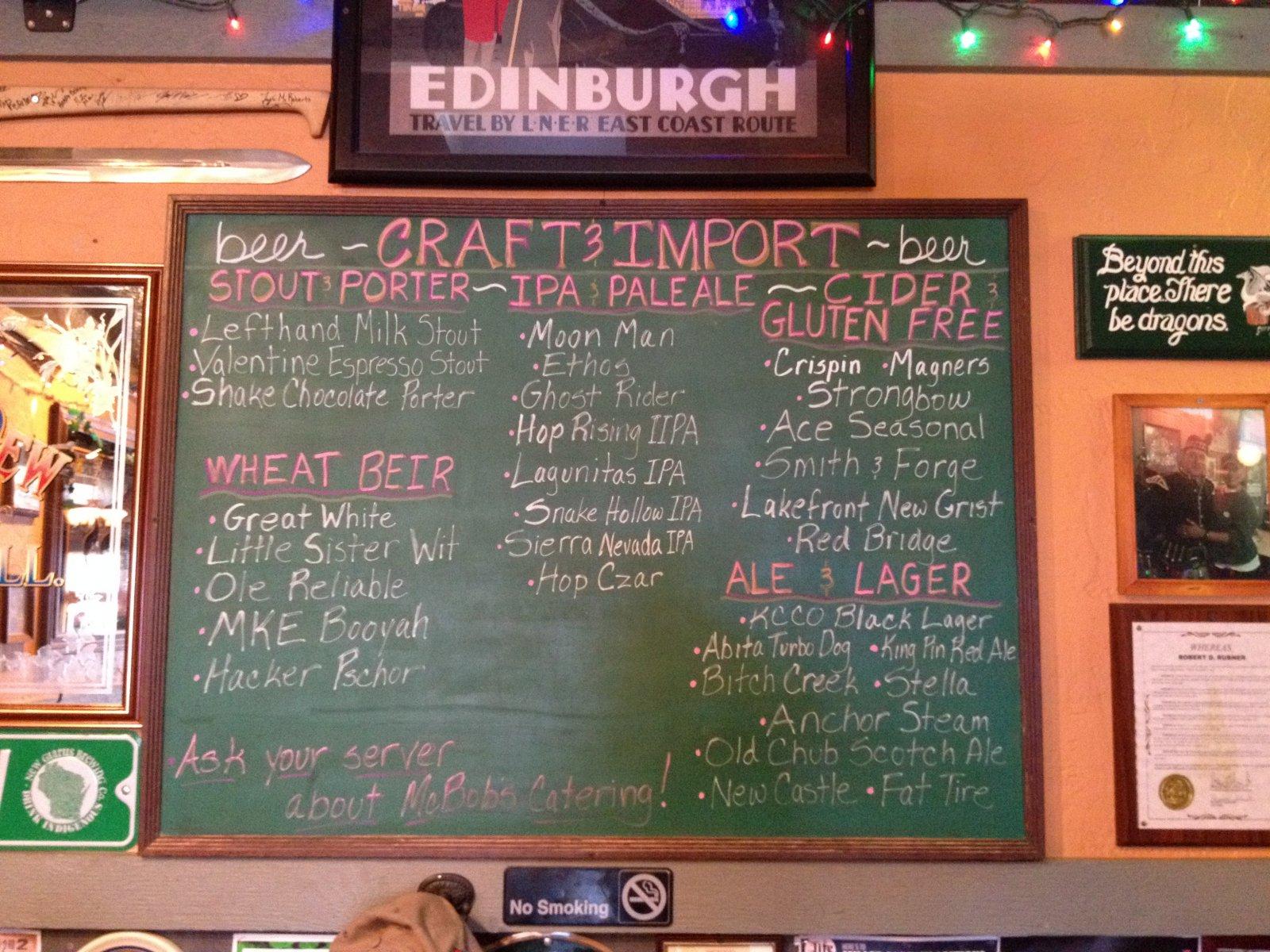 Beers at McBob\'s