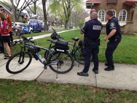 Bike cops.