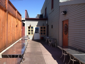 The patio at McBob's
