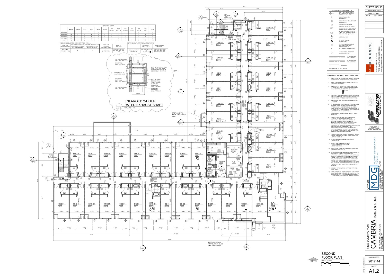 Cambria Fourth Floor Plan