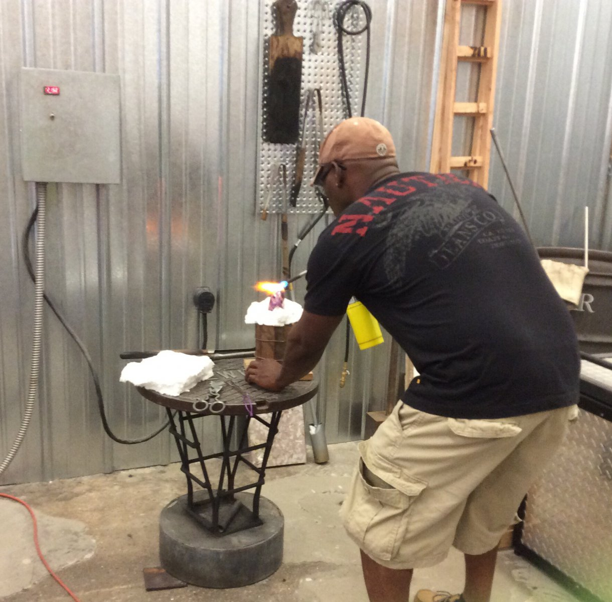 Glass blowing event for 50+ SAGE organized by LGBT center.