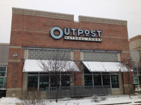 The exterior of Outpost Natural Foods on Capitol Drive.  Photo by Joe Kelly. March 4th, 2014. All Rights Reserved.