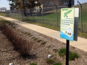 Green Corridor Planters and Sign