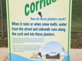 Green Corridor planters sign.