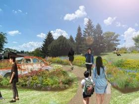 Highway 41 Historic Gardens rendering.