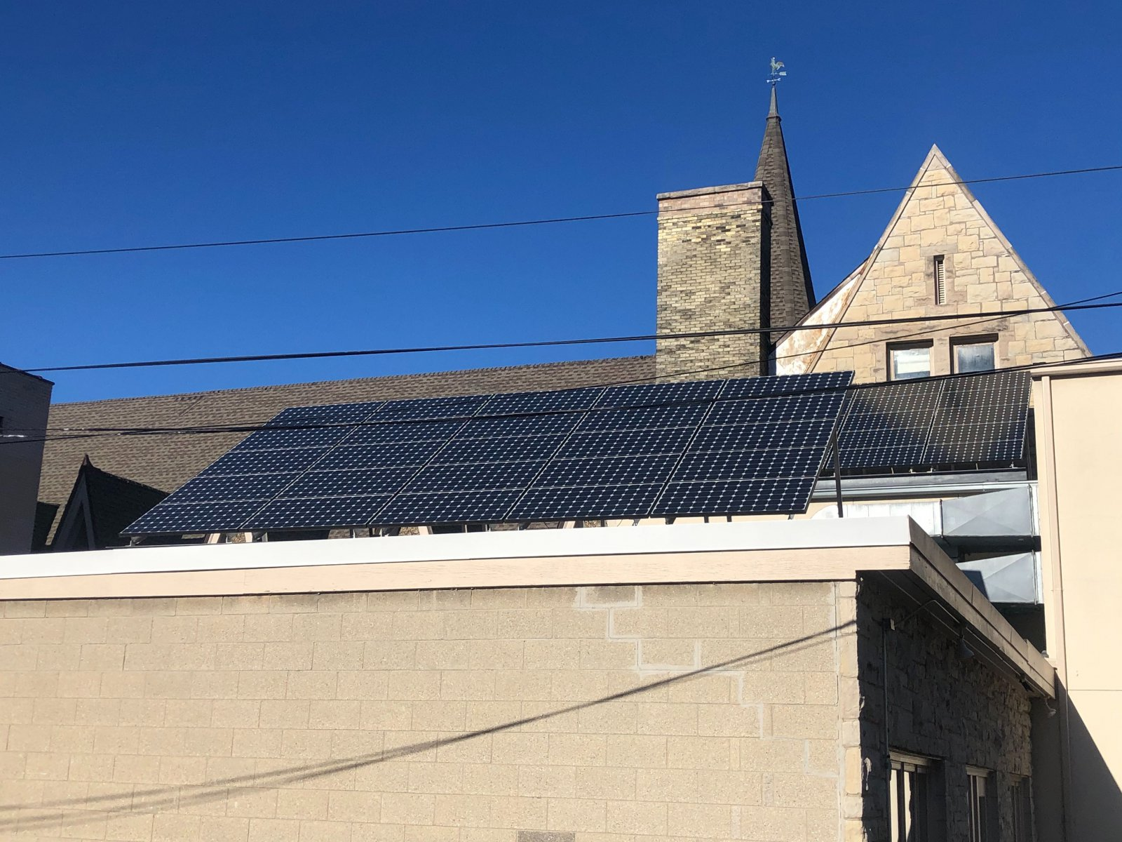 Solar Panels on First Unitarian Society of Milwaukee