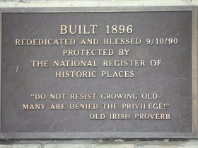 819 N. Cass St. marker. Do not resist growing old many are denied the privilege