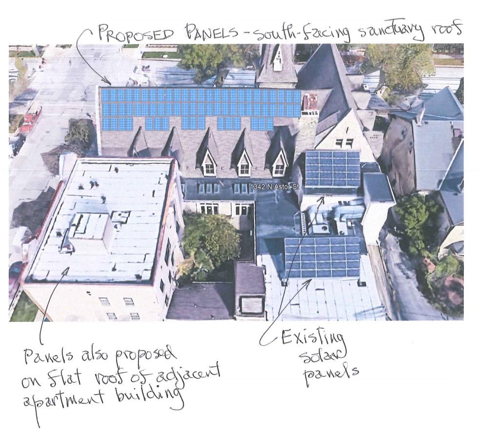First Unitarian Society of Milwaukee Solar Panel Plan