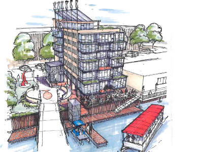Eight-story building proposed for Riverwalk