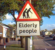 Yield Elderly People. Photo by bensons.