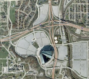 The amount of parking Miller Park requires because of the use of surface lots is really quite amazing.