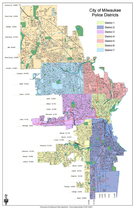 Old Milwaukee Police Districts