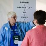 Brown, green stuff, air, water
