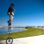 Giant unicycle
