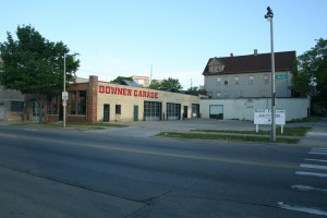 The Downer Garage is now for lease as a retail establishment.