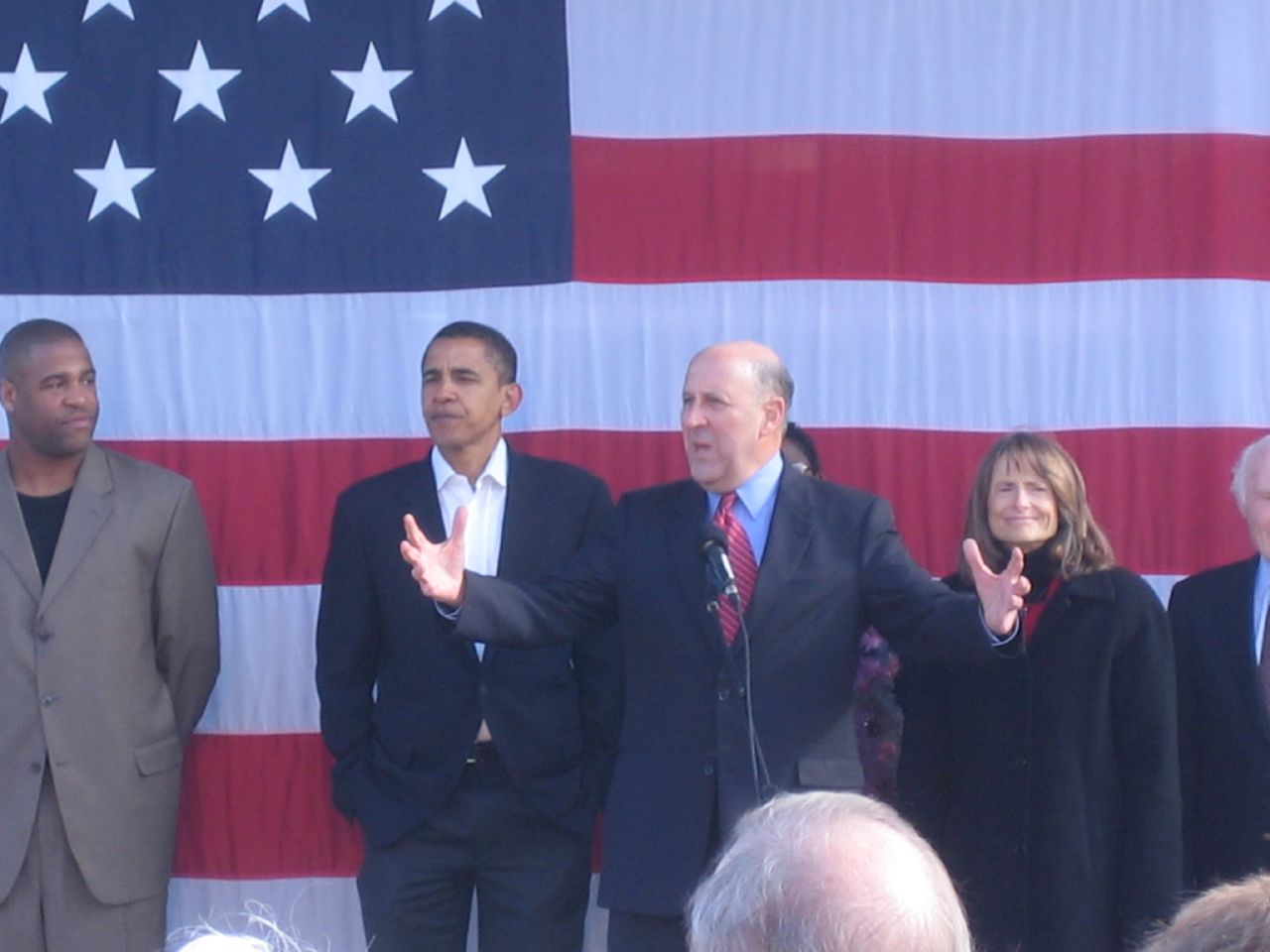 Jim Doyle with Barack Obama.