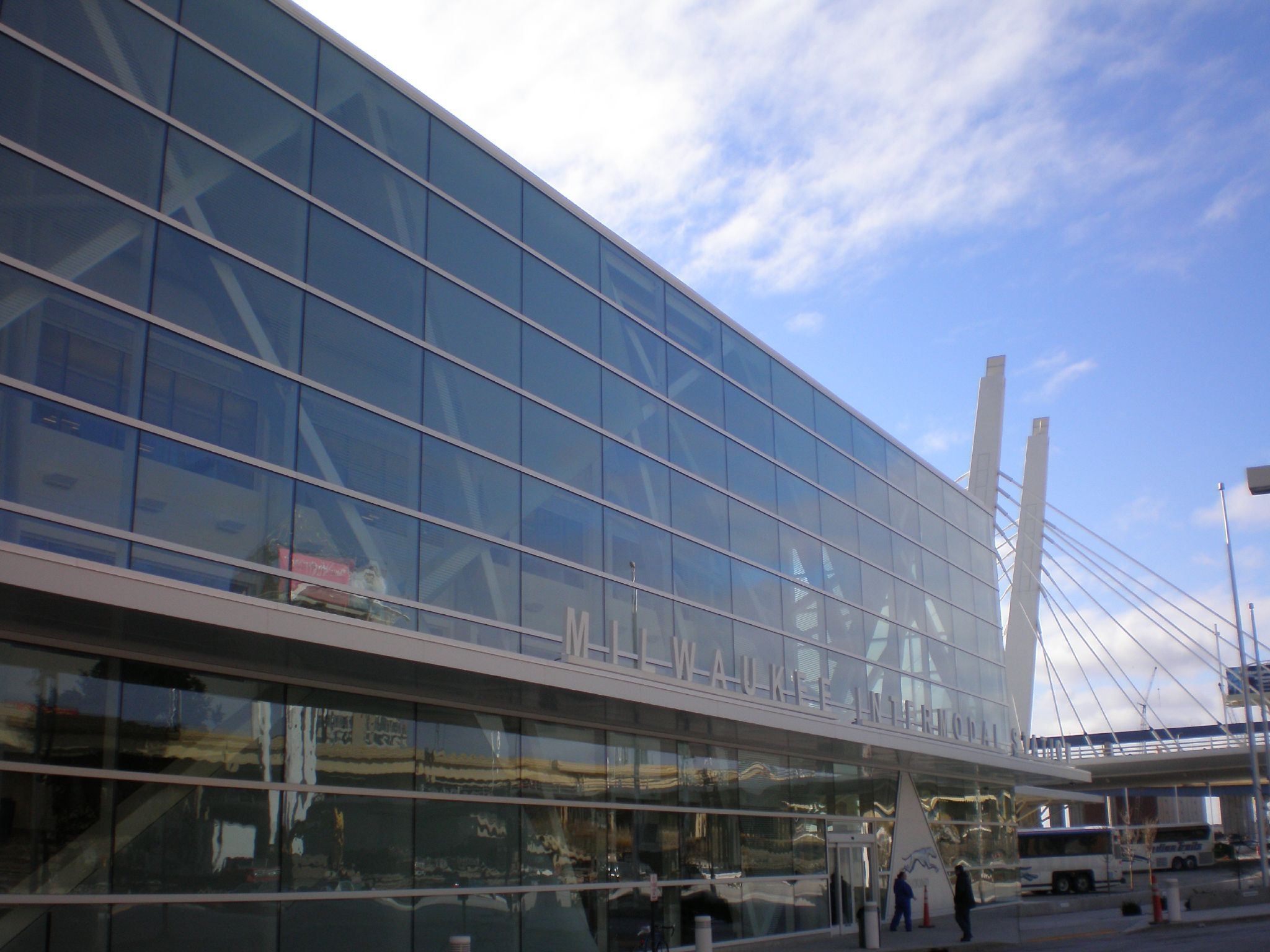 The Milwaukee Intermodal Station is a welcoming hub for transit in Milwaukee.