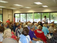 Citizens listened attentively to Ryan's presentation on the current health reform bill.