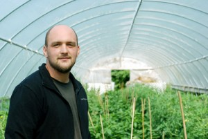 Tim Huth does not come from a farming background, but has embraced the lifestyle. he has grown LotFotL Community Farm in East Troy, Wis., from one to 10 acres, and hopes to expand further. Photo by Liz Setterfield
