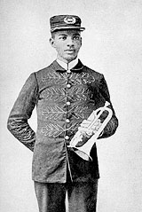 W.C. Handy, with his cornet, at age 19