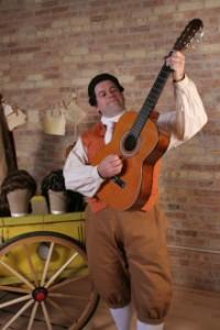 "Andrew Wilkowske as Figaro in the Skylight's ""The Barber of Seville"""