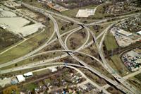 Aerial photo of the Zoo Interchange