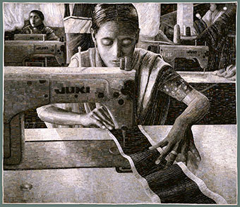 """Portrait of a Textile Worker"" 2005 Terese Agnew. [See final post for details]"