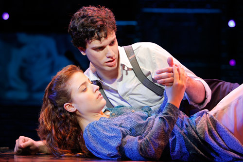 Wendla and Melchior in a scene from Spring Awakening