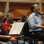 Ma rehearsing with the MSO