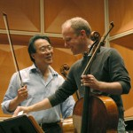 Ma and Johnson at their MSO rehearsal