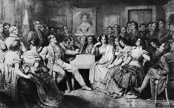 Schubert and friends playing and singing.