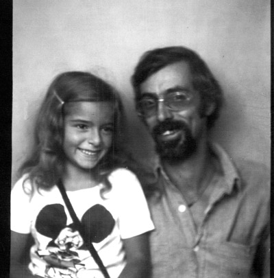 Me and my dad in 1971. That's a Righteous Mouse t-shirt, babies!