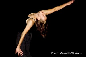 Kelly Bierter, of Danceworks Performance Company, in rehearsal for Ferro and Friends 2.