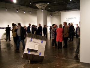 "Opening night, with ""Reaction"" by Shana McCaw/Brent Budsberg in the foreground."