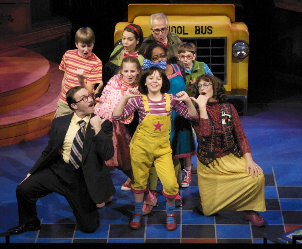 """The cast of Junie B. Jones, seen here with the """"Awesome"""" cast (not reviewed). See story for details. Photo by Mark Frohna."""