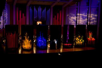 Dale Chihuly; Set Designs for BlueBeard's Castle, 2007; Seattle Symphony; Seattle, Washington  Photo: Terry Rishel