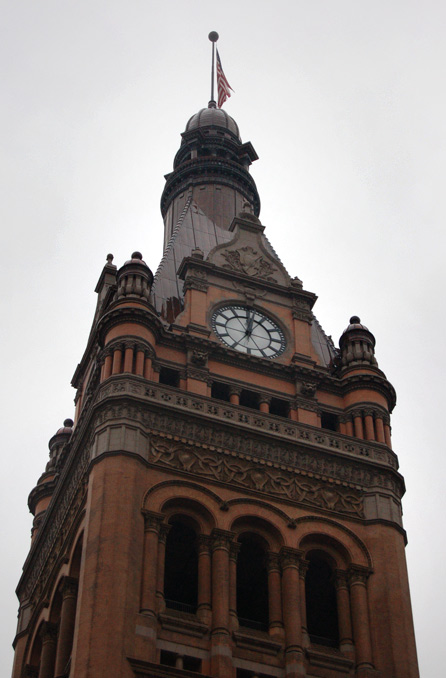 Milwaukee's City Hall clock, picture taken at 3:54 p.m. on Monday, Oct. 27, 2009.
