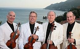 Fine Arts Quartet, left to right: Evans, Boico, Laufer, Eugelmi