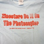 A t-shirt from the QZAP table.