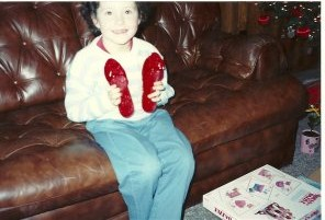 Me at age 6, trying not to freak out.