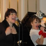 Juli Wood (right) and Robin Pluer double up on vocals