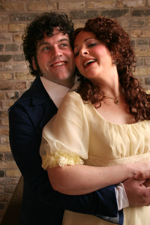 Wilkowske with Alicia Berneche, Susanna in the upcoming The Marriage of Figaro.