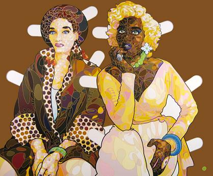 """Black and Blonde, Blonde and Black Paper Dolls"" by Reggie Baylor"