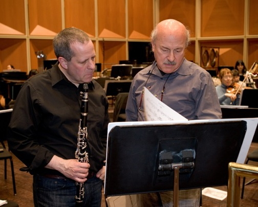 Todd Levy and Mark Neikrug at rehearsal.